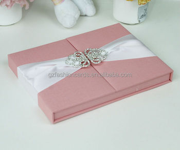 2015 Mewah Undangan Pernikahan Unik Kotak Dengan Bros Buy Undangan