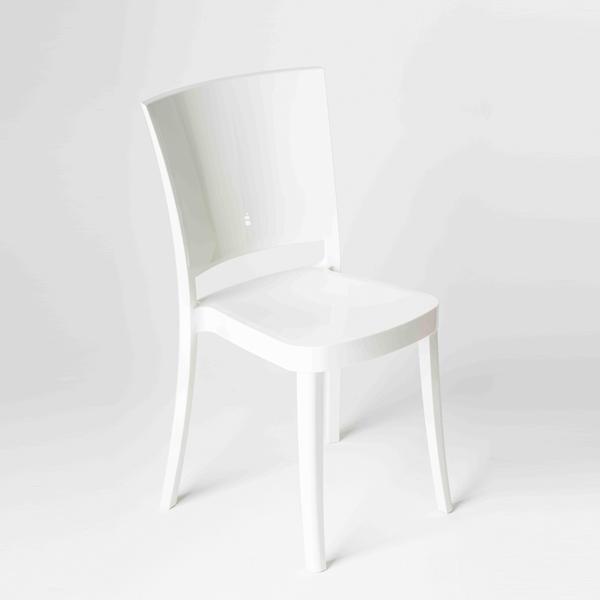chaise polycarbonate couleur lucienne