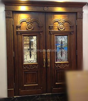 Solid Wood Amp Oil Painted Main Double Door Design Wooden