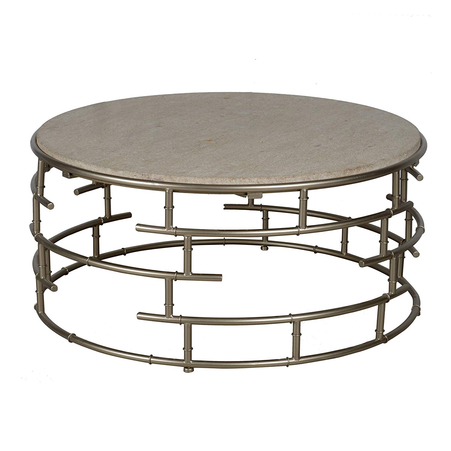 cheap round stone top coffee table