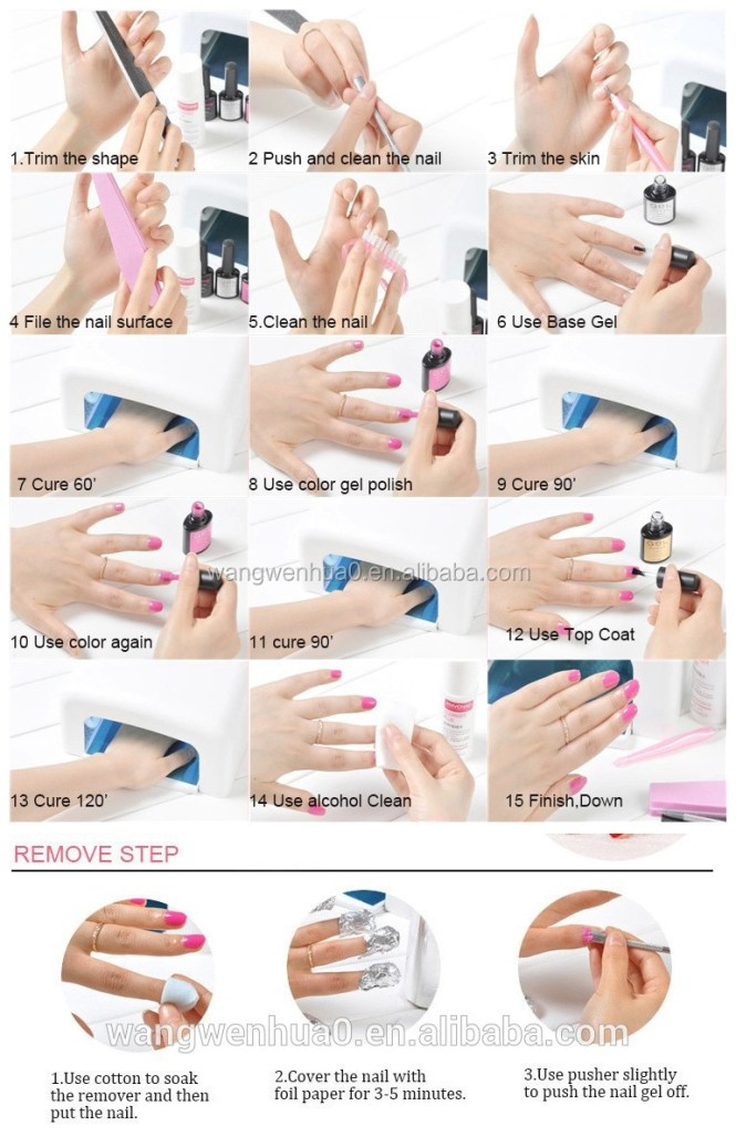 Gel Nail Polish Tutorial Easy Simple Step By Art