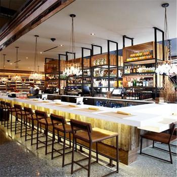 Commercial Long Bar Counters For Restaurantcafe Shop