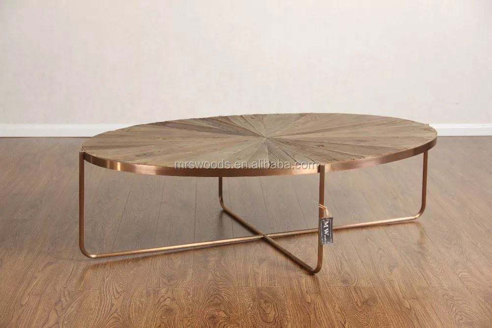 rustic wood oval center coffee table with rose gold metal legs buy gold coffee table oval coffee table wood metal coffee table product on