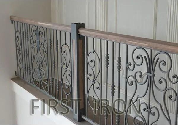 Elegant And Modern Interior Wrought Iron Railings For Stairs Buy   Modern Wrought Iron Stair Railing   Custom   Farmhouse   Decorative   Luxury   Outdoor