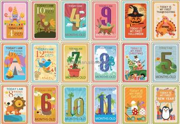 36 Pcs Bayi Kartu Milestone Landmark Saat Bayi Memori Kartu Untuk