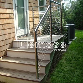 Outdoor Hand Rails For Concrete Steps | Building A Handrail For Concrete Stairs | Deck Railing | Deck | Steel Handrail | Porch | Outdoor Stair