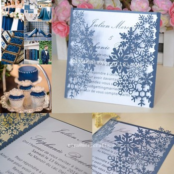 Winter Wedding Decoration And Snowflake Type Card Invitation Invitations Box