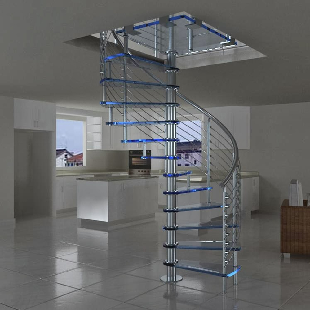 Prefabricated New Design Exterior Stainless Steel Spiral Staircase | Steel Spiral Staircase Design | Concrete | Outdoor | Wood | Structural | Cast Iron