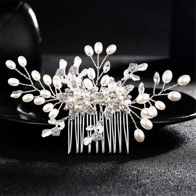 buy white imitation pearl cheap hair accessories aesthetic