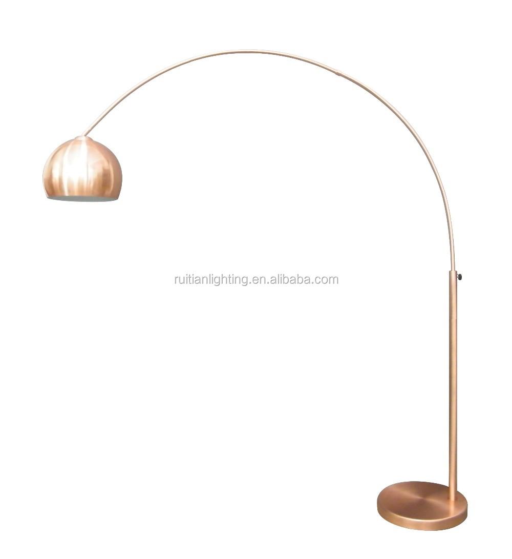 lampe arc led en cuivre perche metallique de peche avec base en metal marbre nouveau modele buy lampadaire dore lampadaire fantaisie lampe en marbre