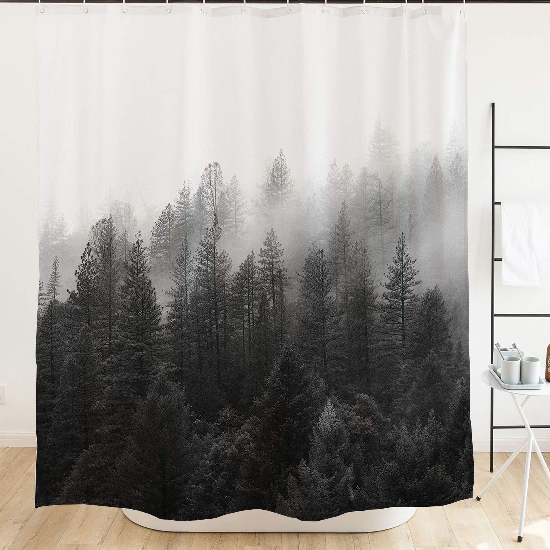 cheap black and orange shower curtain