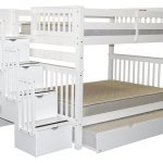 Buy Bedz King Stairway Bunk Beds Twin Over Full With 4 Drawers In The Steps And 2 Under Bed Drawers Gray In Cheap Price On Alibaba Com