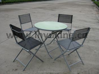 patio en fer chaise pliante et table bistro en metal chaise de fronde et table en