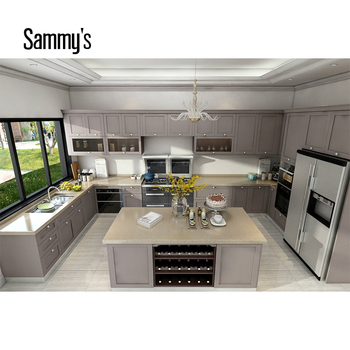 Foshan Manufacturer U Shape Modular Kitchen Design ...