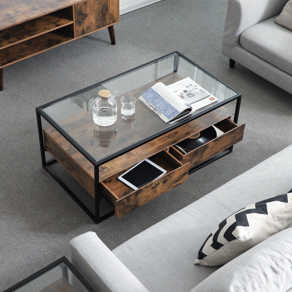 vasagle wholesale prices fashion coffee table glass top wooden antique metal glass coffee table buy metal glass coffee table coffee table glass