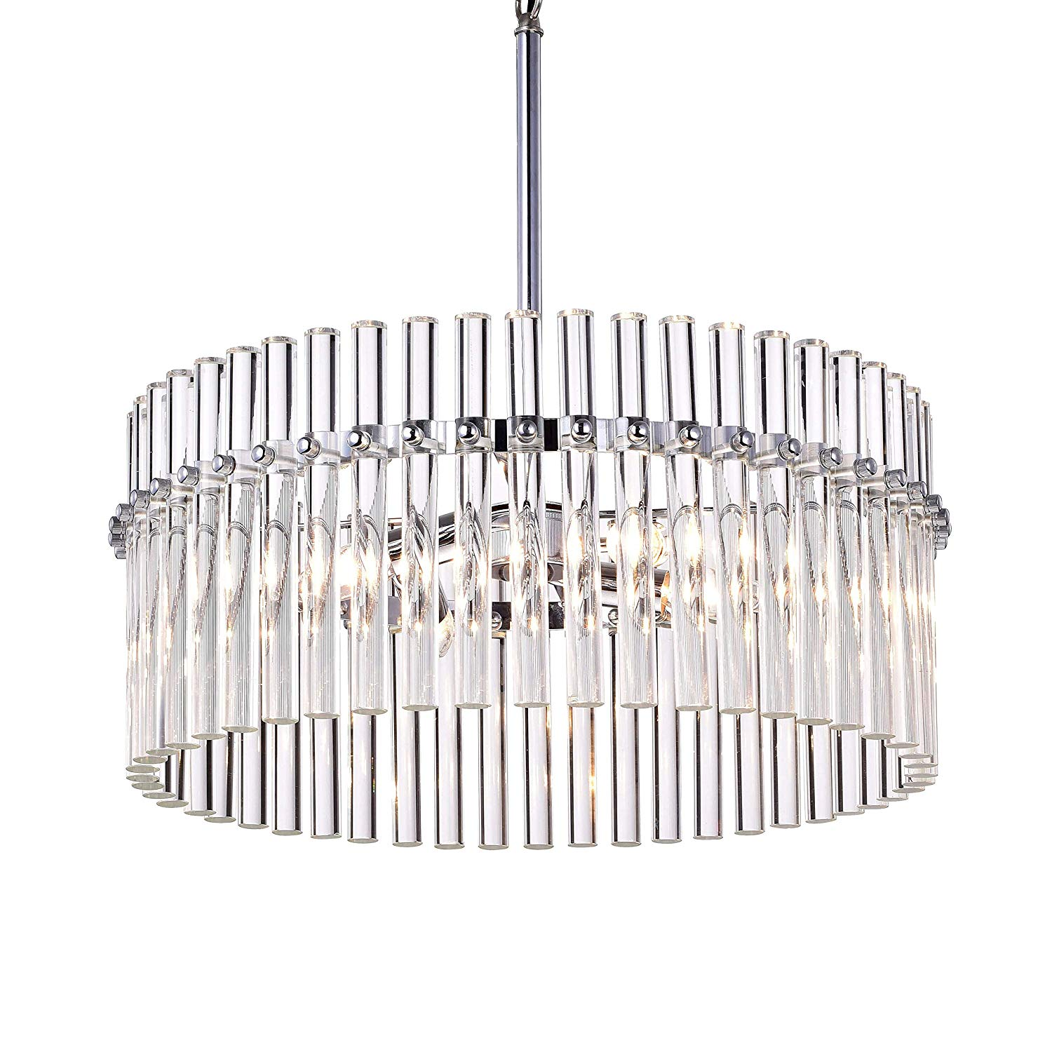 Buy Crystal Chrome Chandelier Pendant Light With Crystal