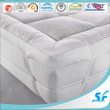 Inflatable Air Mattress Goose Down Feather Bamboo Fabric Foam Protector