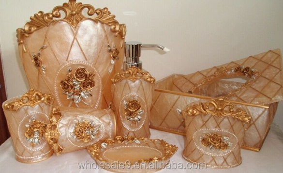 elegant bathroom accessories sets   My Web Value Elegant Royal Bathroom Accessories Set Bath Resin Wash Cup Toothbrush  Holder Gift   Buy Royal Bathroom