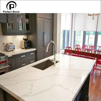 Calacatta White Quartz Island Top