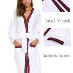 Necuv Mens Thick Long Cozy Bathrobe Winter Pajama Flannel Robe Sleep Lounge Men