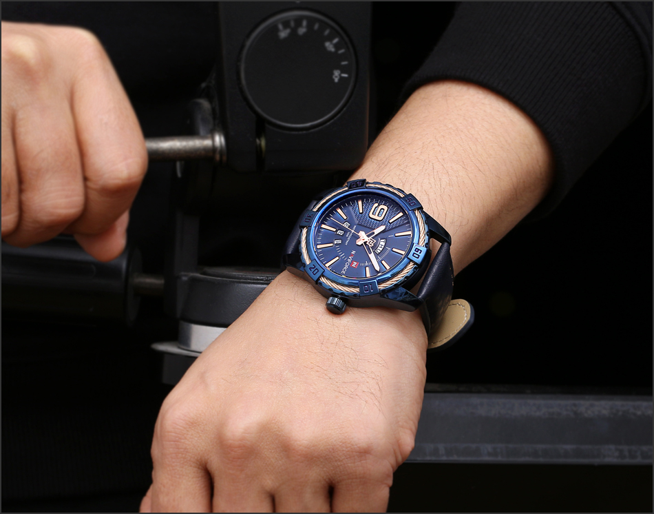 HTB1cQ2QghrI8KJjy0Fpq6z5hVXaZ NAVIFORCE Top Luxury Brand Men Quartz Watch Army Military Sport Business Watches Week Analog Display Male Clock Waterproof Hour