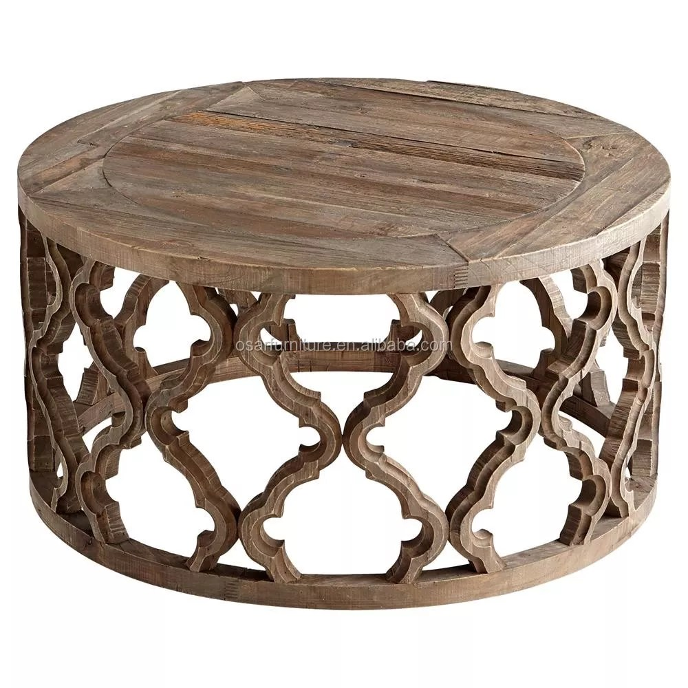 osar rustic furniture old elm wood round coffee table view round coffee table osar furniture product details from shanghai osar furniture co ltd