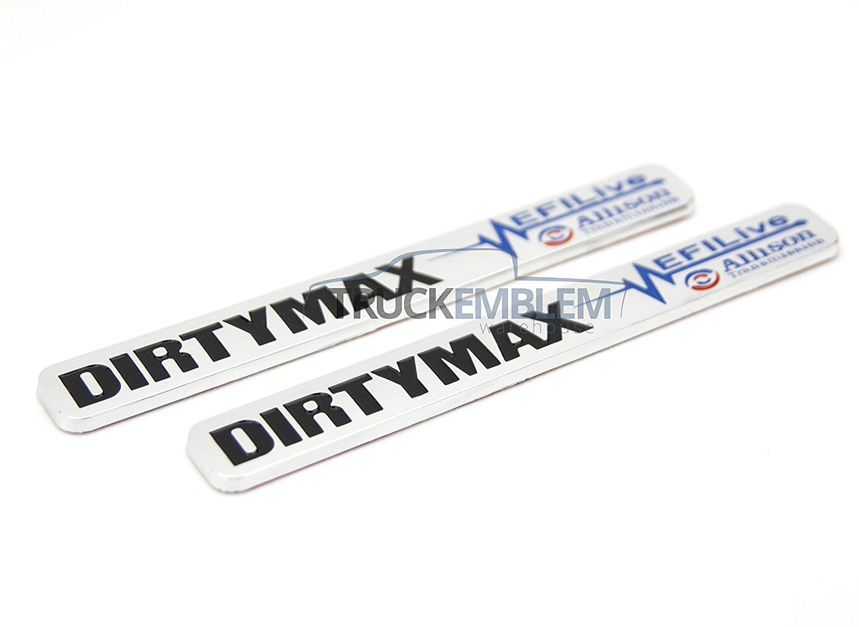 Buy 2 New Pair Matte Black Duramax Dirtymaxsel