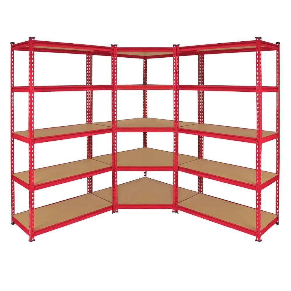 chariot d angle de garage 3 baies etagere de rangement pour atelier 5 niveaux buy rayonnage de garage a 3 baies etagere de rangement