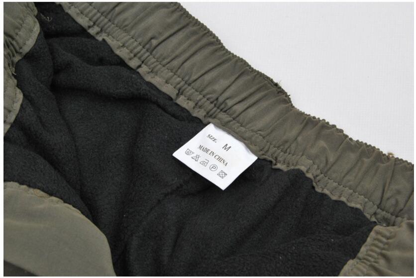 Men's Cargo Pants 2019 Winter Casual Warm Thicken Fleece Pants Men Cotton Multi Pockets Combat Military Baggy Tactical Pants 51