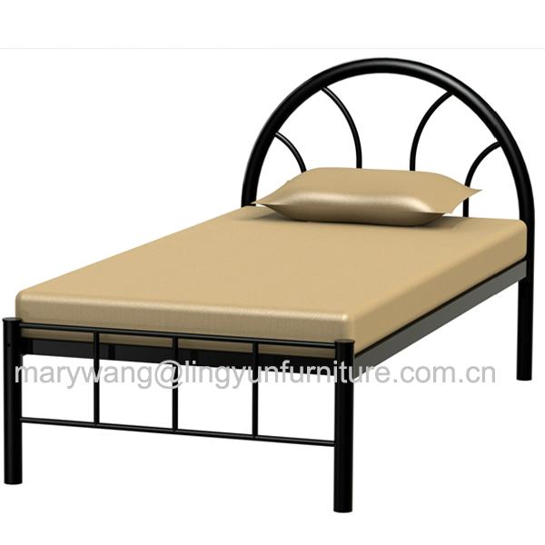 tete de lit ronde durable de haute qualite 3ft lit en fer noir en metal buy lit en metal lit en metal de 3 pieds cadre de lit en metal product on