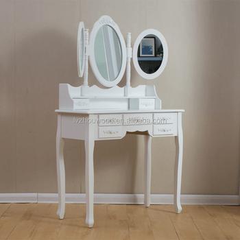 en gros pas cher blanc chambre trois miroir commode avec chaise