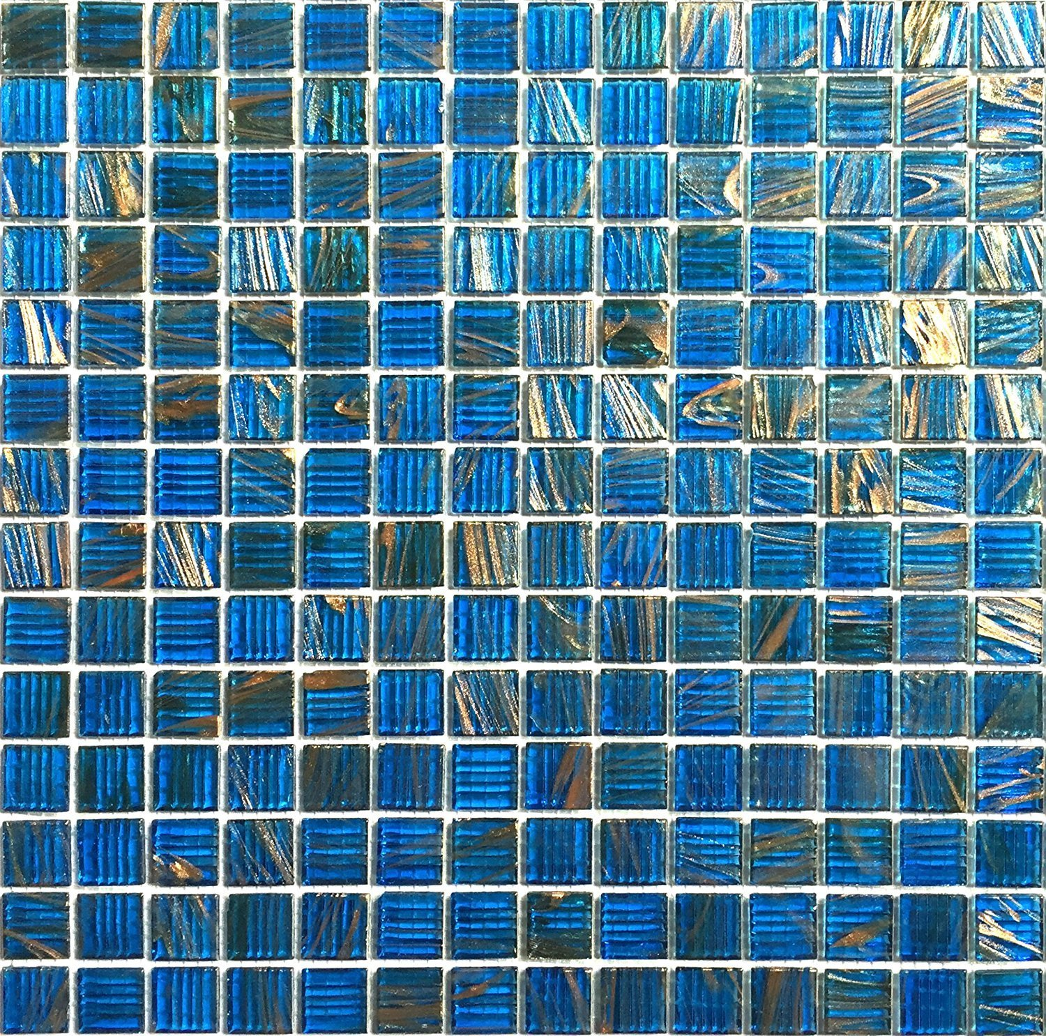 glass mosaic iridescent tile lowes