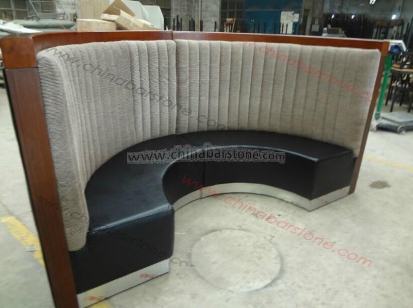 Booth Sofa Seating Customized U Shape Restaurant Sofa