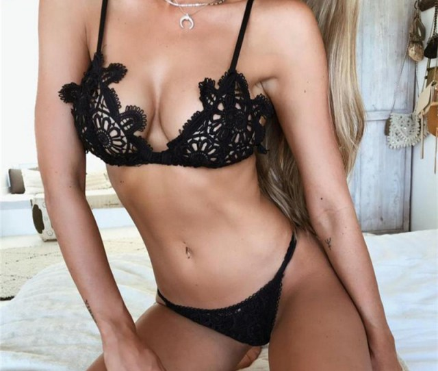 Cq  New Arrival Hot Women Erotic Lingerie Sexy Lace Bra And Panty Set