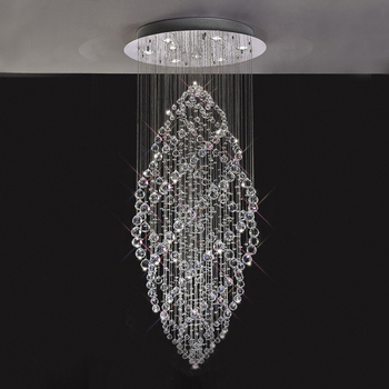 2017 New Model Designer Modern Crystal Chandeliers Decorative Raindrop Chandelier Spiral In China 92007
