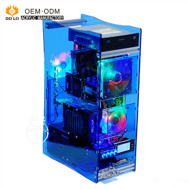 boitier transparent en acrylique pour tour de pc tour de pc avec led personnalise pcs buy coque d ordinateur en acrylique coque pc coque tour pc