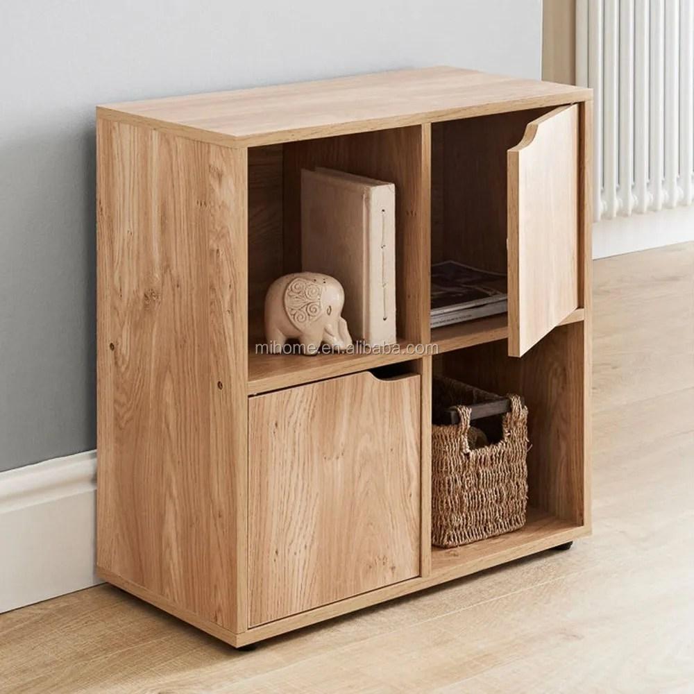 en bois cubes de rangement 2 portes 4 cube magazine cd organisateur meuble chene buy bibliotheque bibliotheque bibliotheque en bois product on