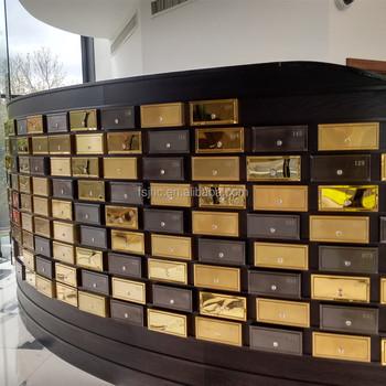 China Lockable Apartment Post Box Anium Gold Hotel Mailbox Cer Design