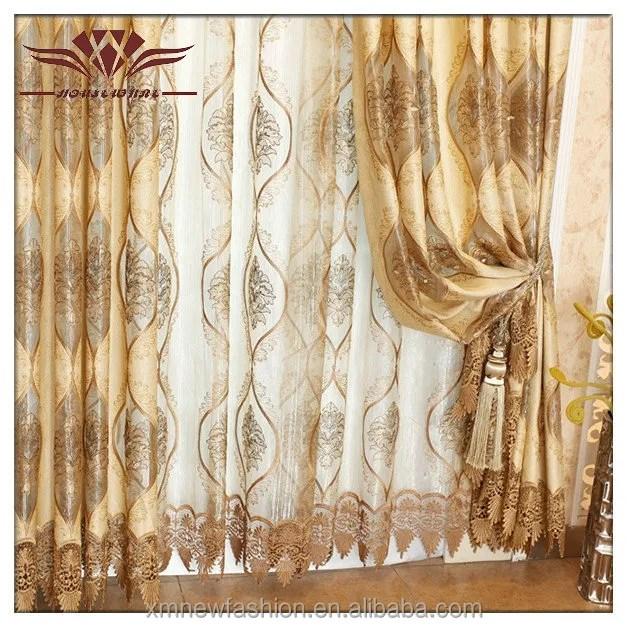 fenetre coulissante de conception de rideau conception de rideau pour la chambre a coucher hotel de luxe jacquard rideau occultant buy de luxe
