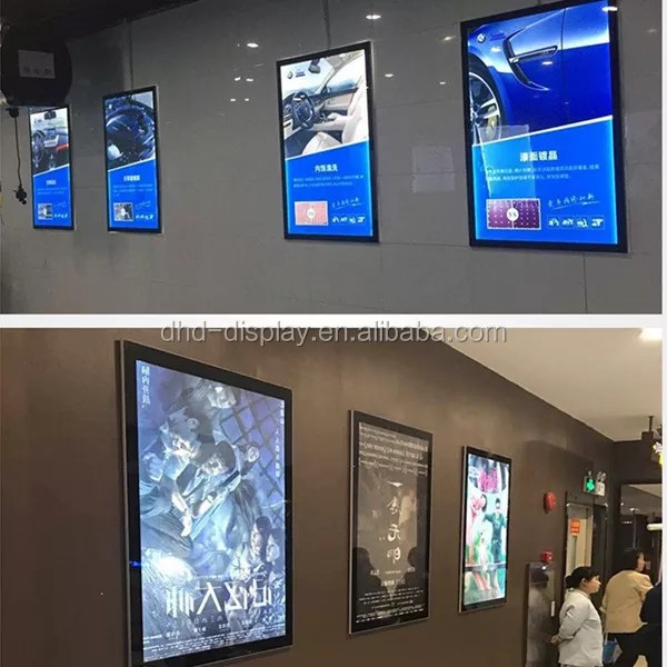led cinema light box magnet poster display lighted movie poster frame buy lighted movie poster frame led display cinema light box product on