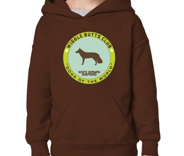 Get Quotations  C2 B7 Teeburon White German Shepherd Wiggle Butts Club Girl Hoodie