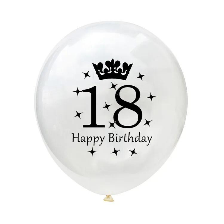 ballons en latex avec impression de joyeux anniversaire 18 21 30 40 50 et 60 ans logo personnalise decoration de fete livraison gratuite buy ballon