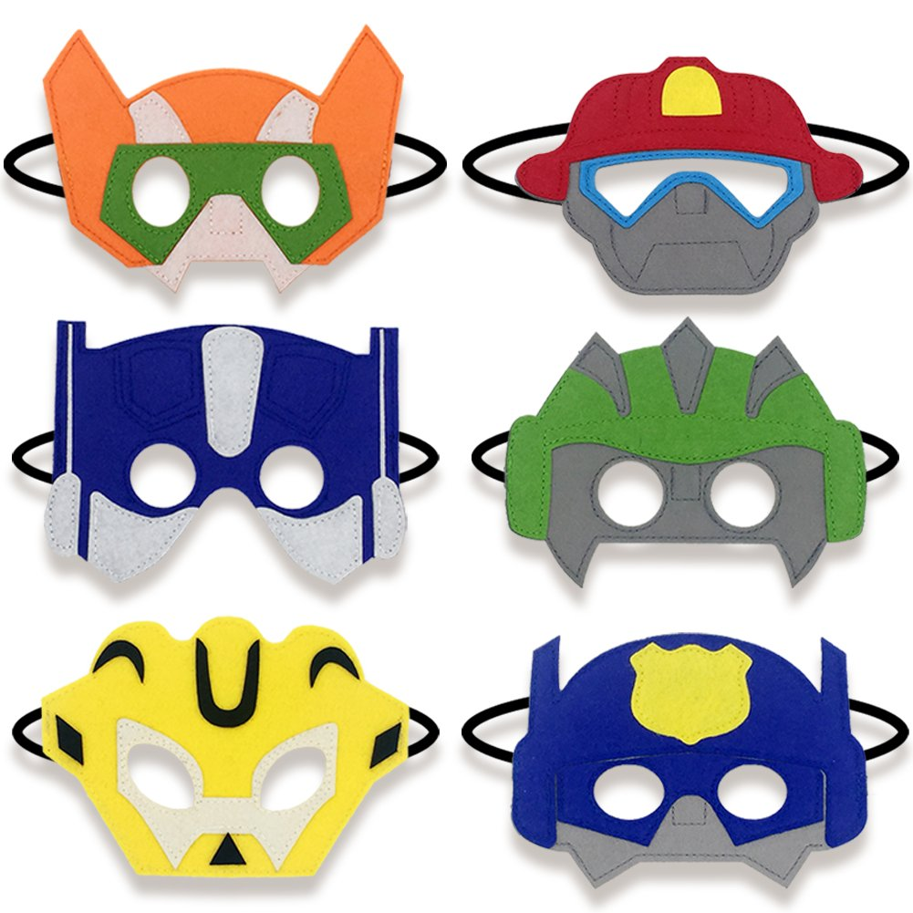 Boy Birthday Party Favors Felt Masks Boy Birthday Gifts For Rescue Bots Party Supplies Buy Mask Boy Gift For Boy Birthday Gift Product On Alibaba Com