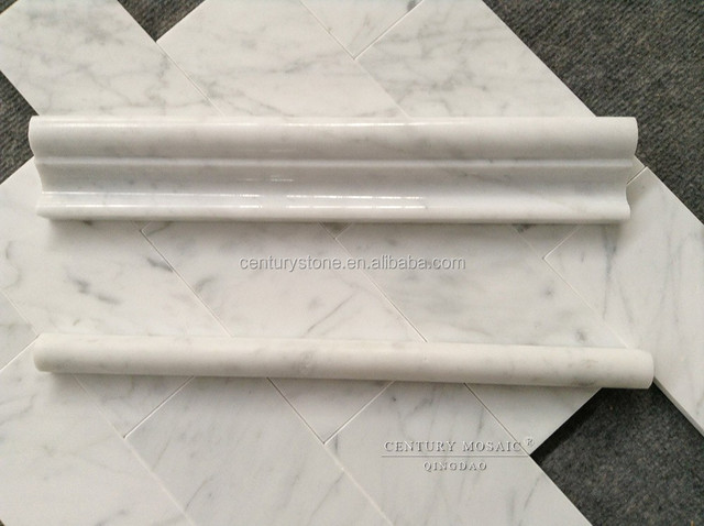 carrara polished and honed marble tile trim for stair edge trim buy tile trim marble tile trim stair edge trim product on alibaba com
