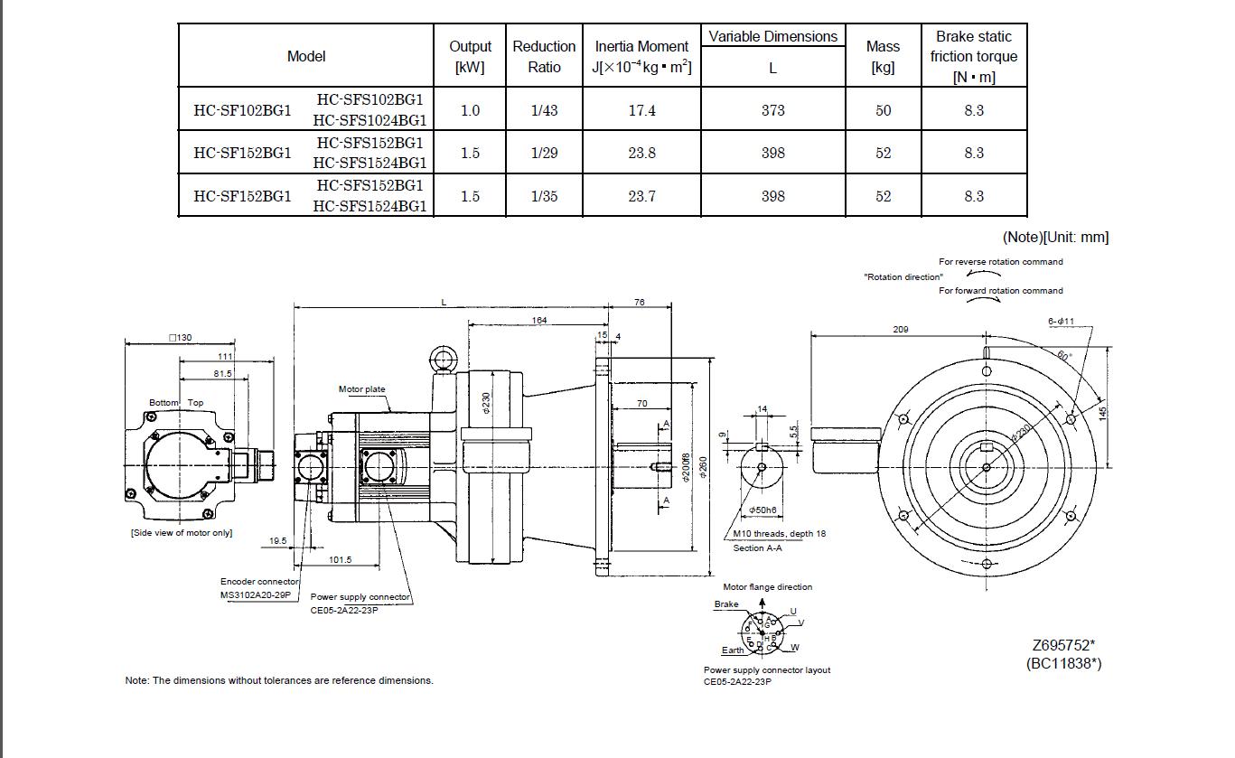 Electric Motor New Original Hc Rfs503 Industrial Ac Servo