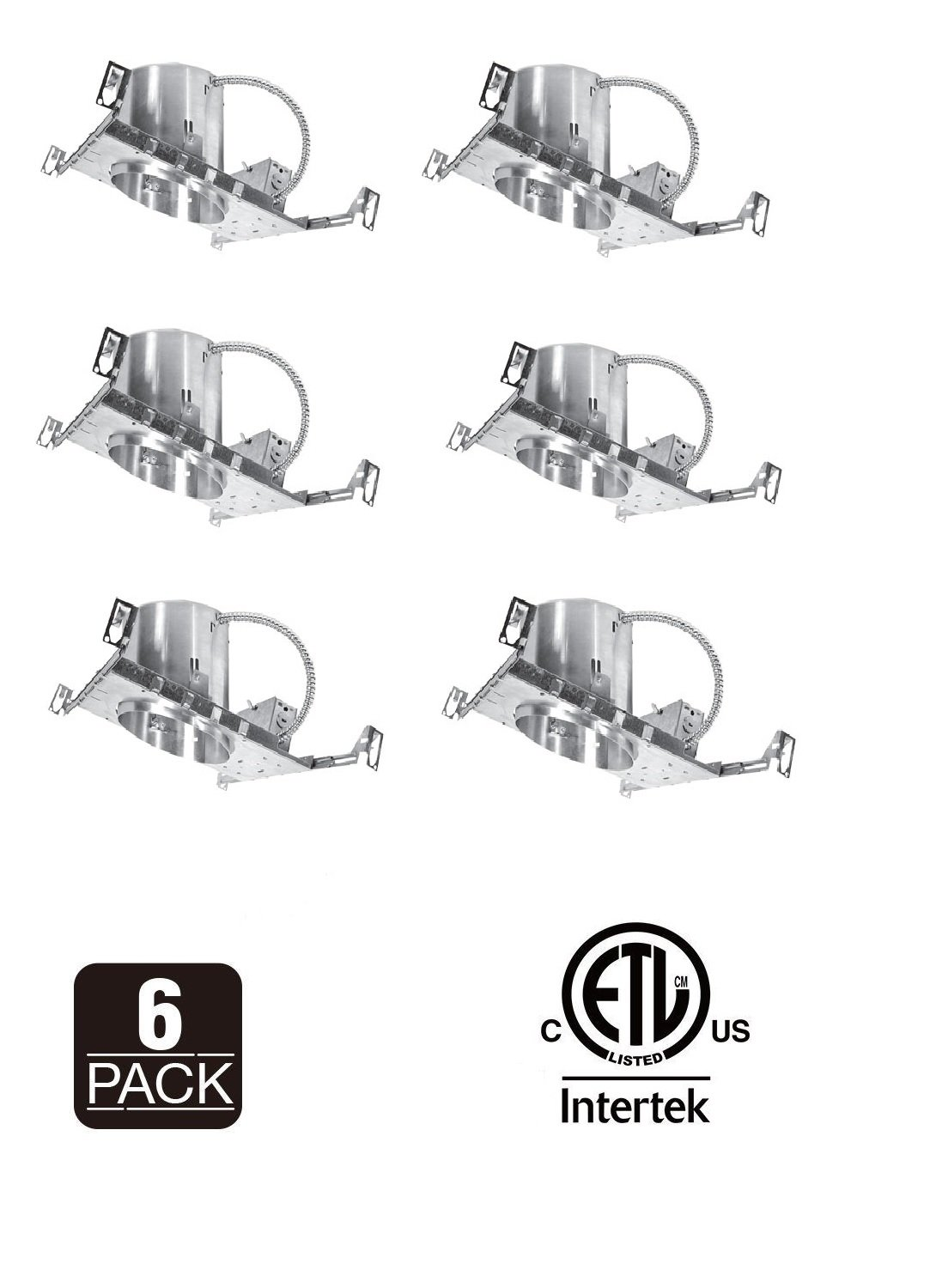 Buy 6 New Construction Led Can Air Tight Ic Shallow