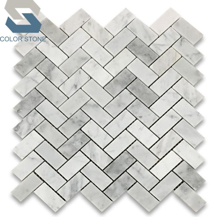 lowes honed carrara white marble herringbone mosaic shower tile for bathroom remodel buy herringbone mosaic herringbone tile mosaic carrara mosaic