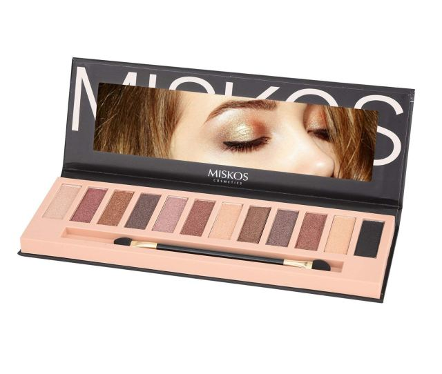 Get Quotations  C2 B Colors Nude Tude Eyeshadow Palette Shimmer Matte Eye Makeup Pallete Set Highly Pigmented Red
