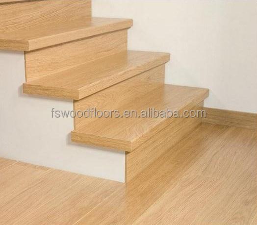 Natural Prefinished White Oak Wood Stair Tread Buy Wood Stair   Unfinished White Oak Stair Treads   Quarter Sawn   Stair Nosing   Wood Stair   Hardwood Flooring   Risers