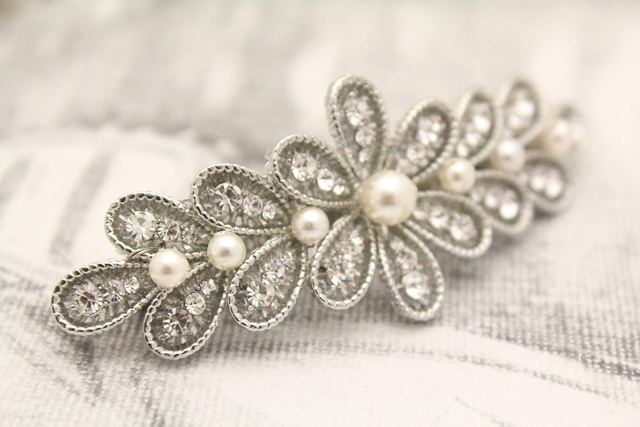 buy wedding hair barrette pearl hair clip bridal hair piece